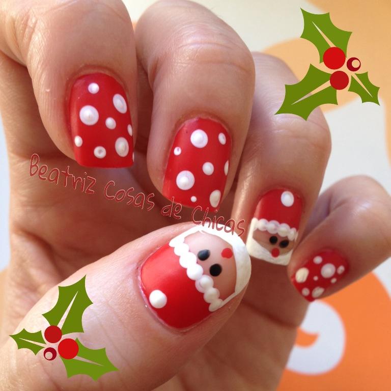 Manicura Navidad: Papa Noel | Beatriz Cosas de Chicas