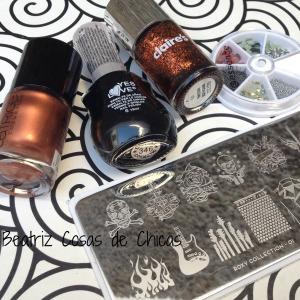 Uñas Catrice y Claire´s estampadas con Moyou: https://beatrizcosasdechicas.com/2014/11/16/reto-colores-cosas-de-chicas-vol-2-manicura-en-marron/