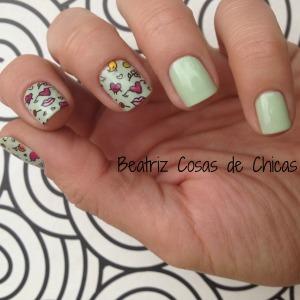 3. Florar Grunge de Essence y Moyou #reversestamping