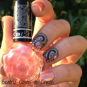 Roses Cosmetics, Infinity Nails....Reverse Stamping 2