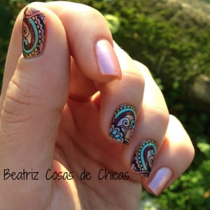 Roses Cosmetics, Infinity Nails....Reverse Stamping 3
