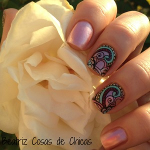 Roses Cosmetics, Infinity Nails....Reverse Stamping 4