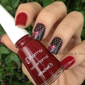 Flormar Red Velvet 385 y Water Decals.4