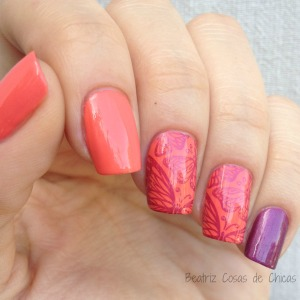 Essence Efecto Gel Coral y CICI&SISI.3