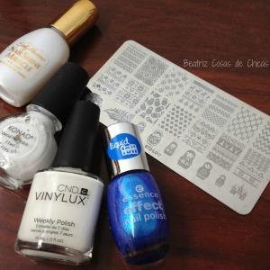 Azul Liquid Foil de Essence y Reverse Stamping STZ-L017.3