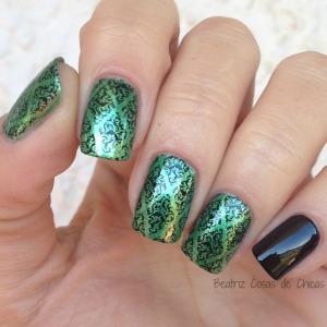 Manicura Verde con Yesensi.1