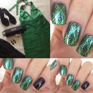 Manicura Verde con Yesensi.