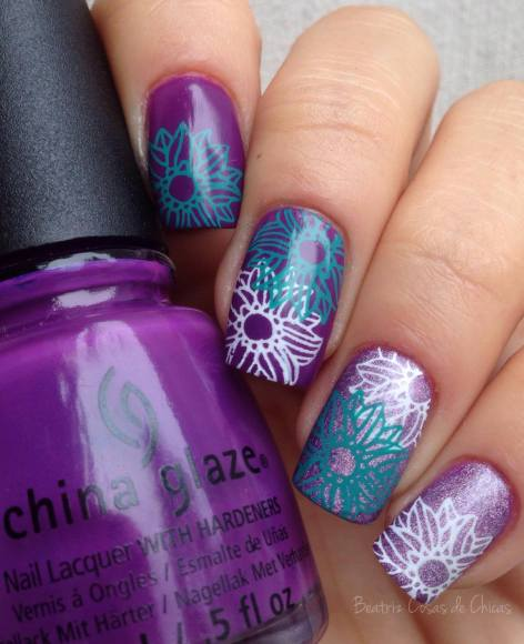 Nail Art China Glace and CICI&SISI Beatriz Cosas de Chicas
