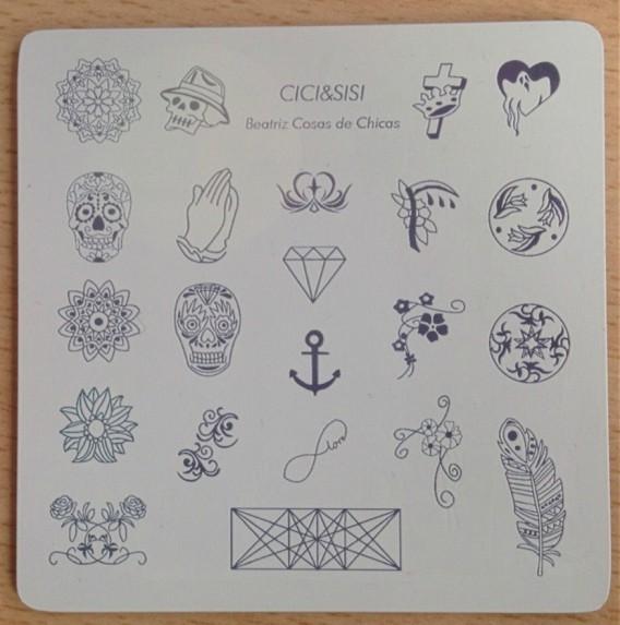 Beatriz cdc Placa Acrilica Nail Art CICI&SISI